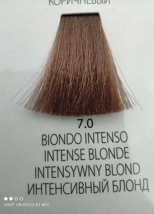 Краска для волос le sher geneza 7.0 интенсивный блонд ( идеально для седых волос )