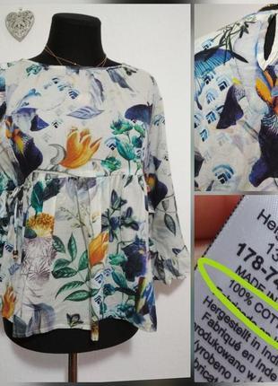 Роскошная котоновая блузка оверсайз свободного кроя оверсайз распашонка