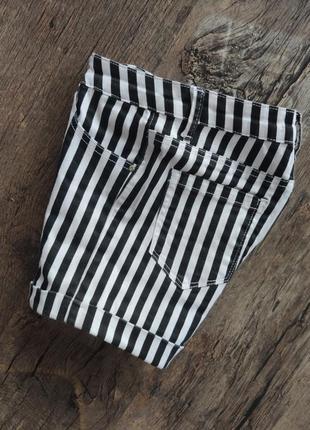 Джинсовые шорты тонкие хлопок стрейч