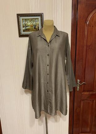 Шелковая блуза-рубаха