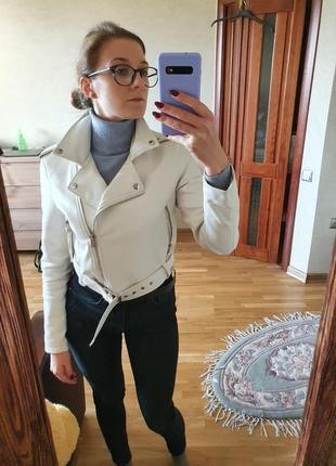 Косуха белая bershka