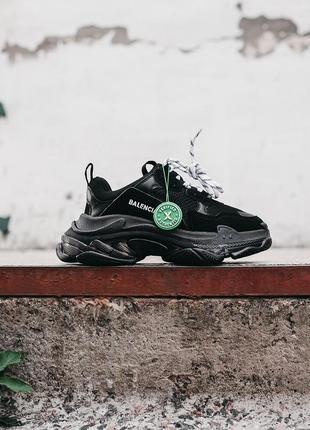 🔥🔥🔥женские кроссовки в стиле balenciaga triple s «black»