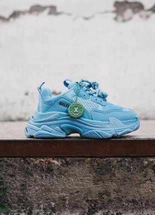 🔥🔥🔥женские кроссовки в стиле balenciaga triple s light blue
