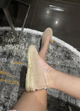 Нові балетки замш натуральний/нові 35 розмір (22 см)