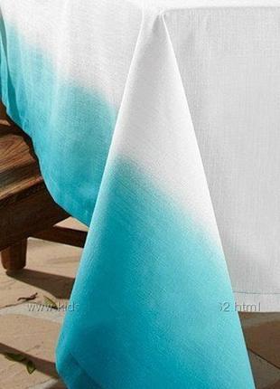 Изумительно красивая праздничная скатерть из хлопка tchibo размер  150 см 275 см