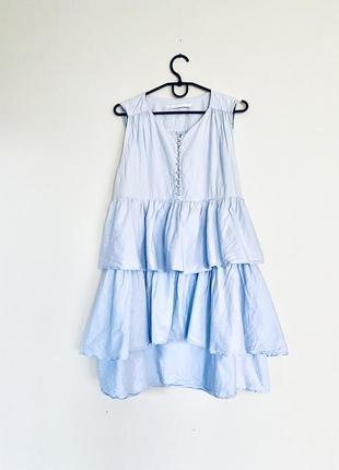Актуальное платье трапеция с волнами.