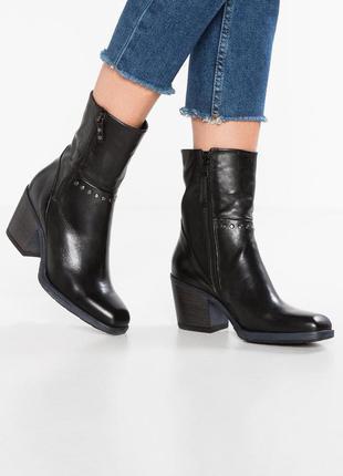Кожаные итальянские  ковбойские сапоги демисезонные. кежуал байкерские ботинки. vero cuoio