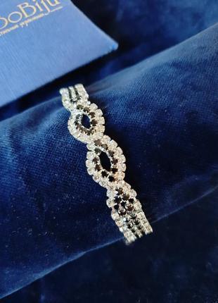 Браслет bobiju со стразами браслетик нарядный символ бесконечности