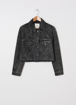 Крутая джинсовая куртка оверсайз house черная серая широкая объемная пиджак джинсовый жакет