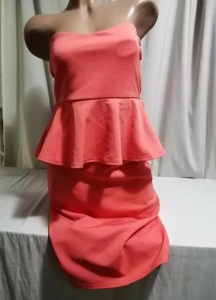 Платье бюстье с басочкой