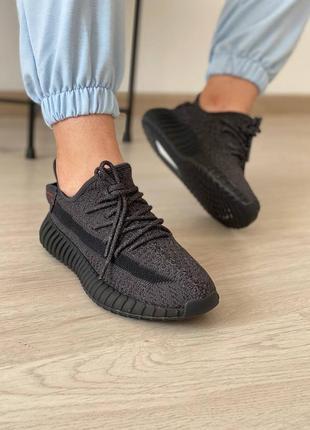 Кроссовки adidas yeezy boost 350 black full reflective