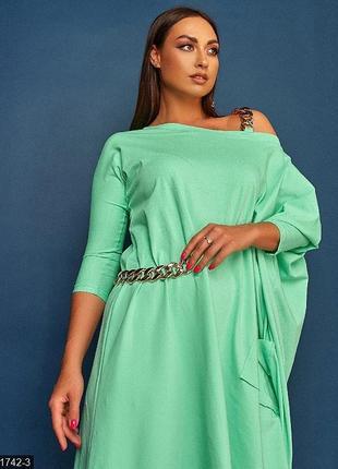 Платье трикотажное женское размер 48-54