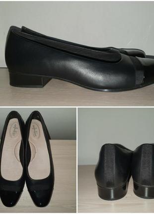 Туфли 43-44 р кожа балетки