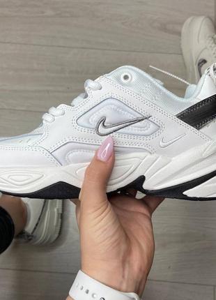 Nike m2k tekno white black кроссовки найк женские м2к техно