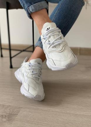 Кроссовки adidas ozweego white6 фото