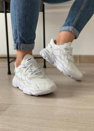 Кроссовки adidas ozweego white7 фото