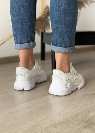 Кроссовки adidas ozweego white8 фото