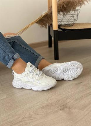 Кроссовки adidas ozweego white3 фото
