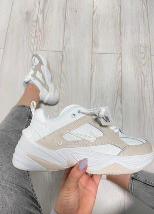 Nike m2k tekno phantom summit white кроссовки найк женские м2к техно обувь взуття