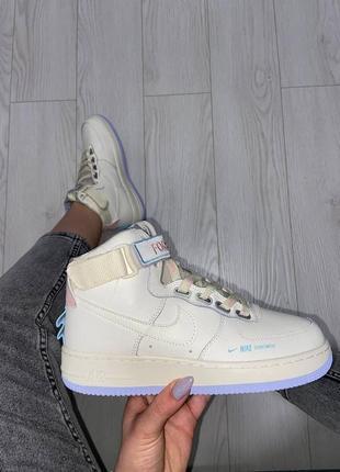 Кроссовки найк женские nike air force 1 beige аир форс кеды обувь взуття