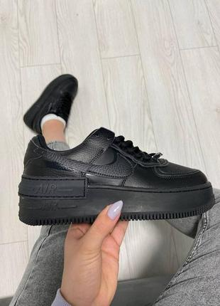 Nike air force shadow black кроссовки найк аир форс кеды обувь взуття
