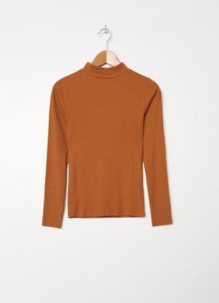 Базовый хлопковый джемпер house гольф кирпичного цвета кофта футболка