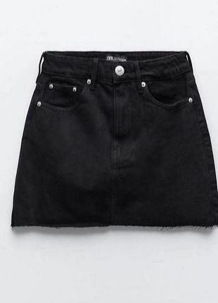 Zara юбка джинсовая