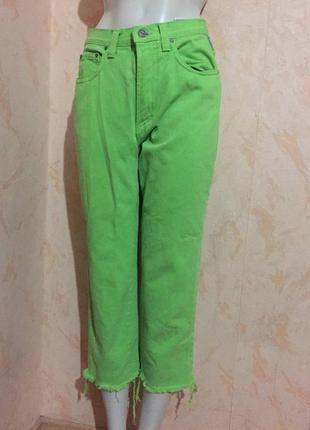 Яркие джинсы versace высокая посадка