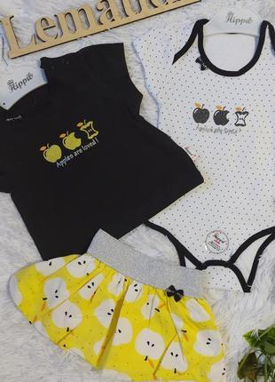 Бодік і футболка / спідничка для дівчинки / літній костюм для принцеси / спідничка дитяча/ бодик дівчинці / красивый костюм с юбкой для девочки