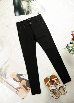 Штаны люкс итальянские черные в горох точку теплые плотные зимние джинсы s
