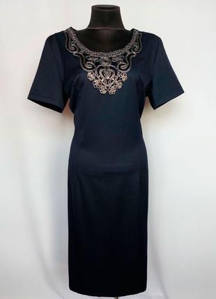 Суперцена. стильное платье, вышивка. турция. новое, р-ры 42-56