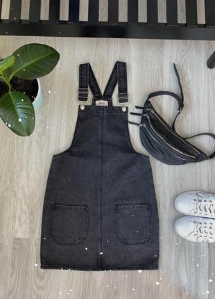 Распродажа!!! комбинезон стильный джинсовый юбочный, новый , размер xs, denim co