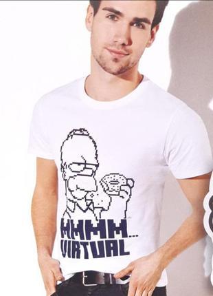 Базовая футболка, футболка с принтом, хлопковая футболка, the simpsons, германия
