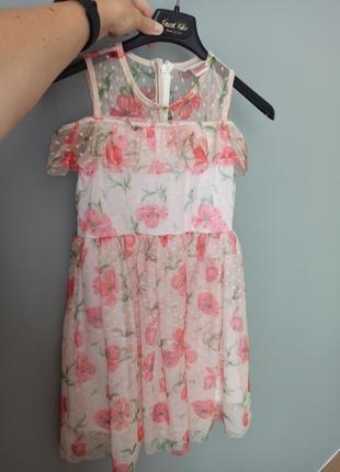 Нарядное платье с маками