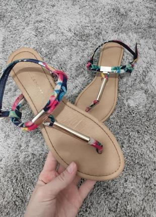 Босоножки яркие разноцветные вьетнамки сандали 39 размер