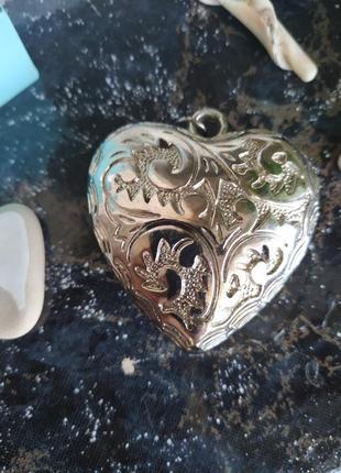Кулон подвеска сердце.