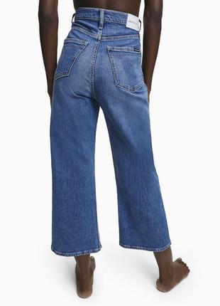 Джинсы кюлоты широкие calvin klein jeans оригинал2 фото