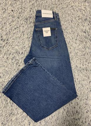Джинсы кюлоты широкие calvin klein jeans оригинал6 фото