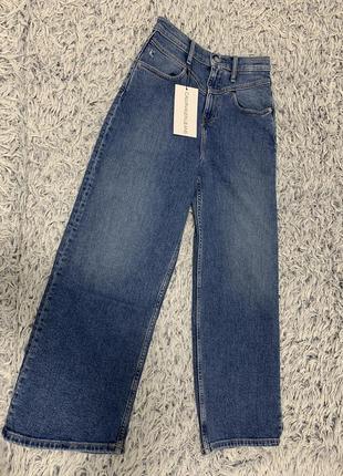 Джинсы кюлоты широкие calvin klein jeans оригинал4 фото