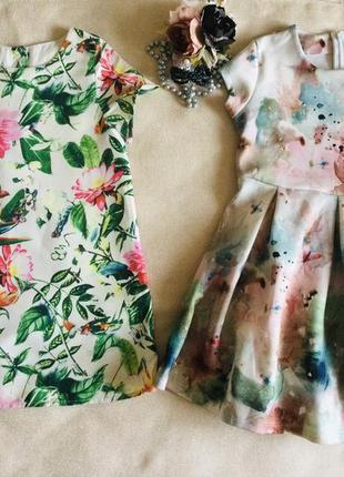 Next. kimocat. модные яркие цветочные платьица. хлопковая подкладочка.  состояние идеальное  при пок