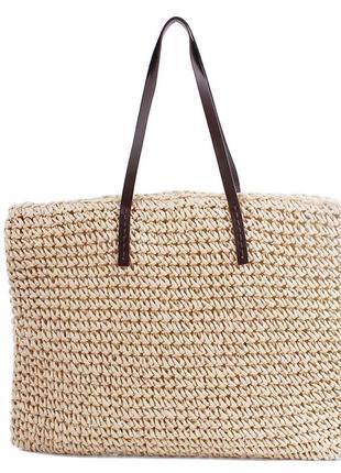 Летняя пляжная вязаная сумка