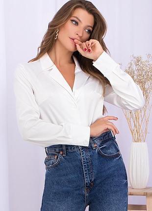 Элегантная шековая блуза (4 цвета )* отличное качество