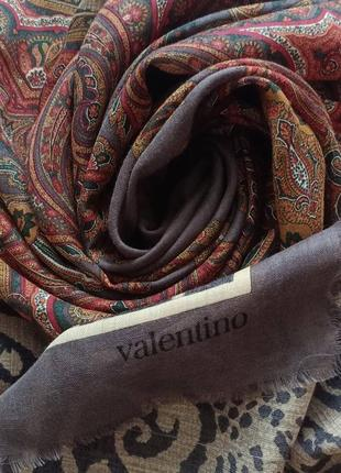 Valentino большой шерстяной платок винтаж шерсть