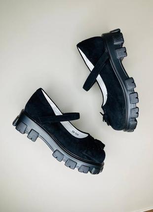 Детские туфли в школу для девочки