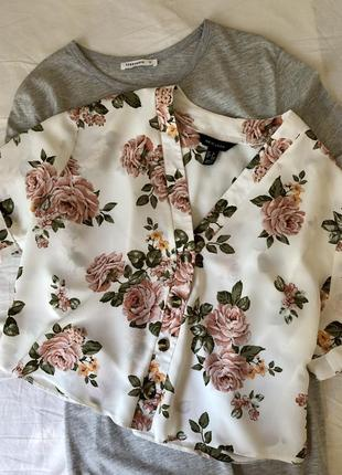 Милая  укорочённая блуза рубашка