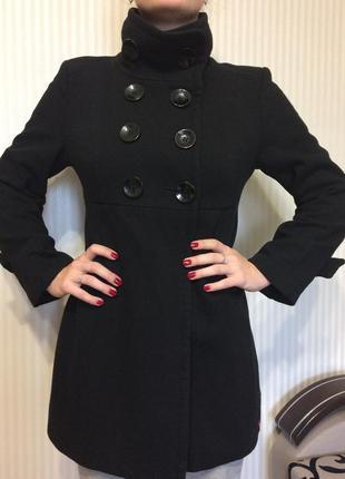 Пальто esprit, черное, классическое, размер xs / s