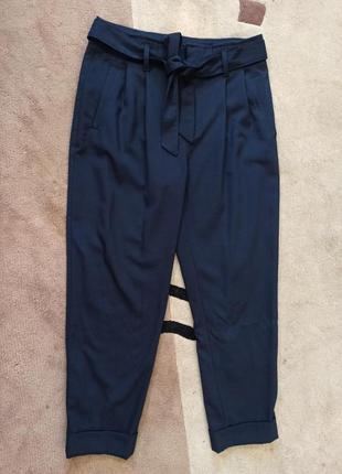 Брюки штаны классические с поясом бантом