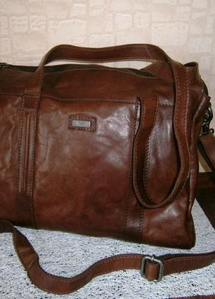 Большая деловая сумка из натуральной кожи. spikes & sparrow