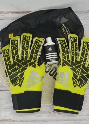 Вратарские перчатки для вратаря adidas football ace trans fs pro с защитой пальцев