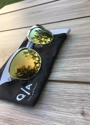 Стильные актуальные очки quay australia 🇦🇺 тренд хамелеон кошачий глаз zara h&m